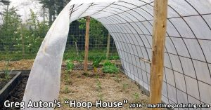 Greg's vegetable gardening hoop house
